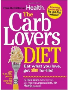 Image of the cover for the book 'The Carb Lovers Diet' by Dawn Jackson Blatner, Registered Dietitian