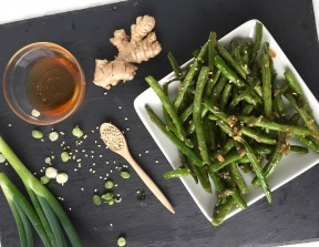 Sticky Sesame Green Beans