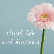 Crush life with kindness