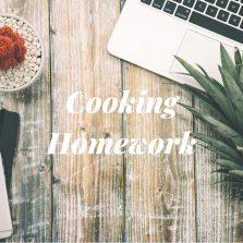 Summery cooking homework.