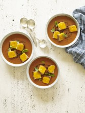 Tomato Soup w/ Grilled Cheese Croutons