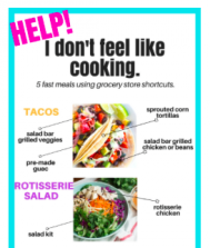 Help! I don't feel like cooking. Part 1