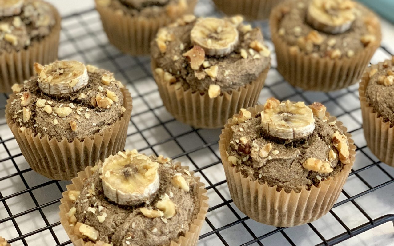 No Added Sugar Banana Bread Muffins
