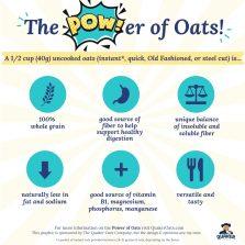 "The Power of Oats ""Cheat Sheet"""