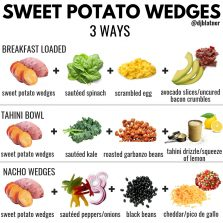 Sweet Potato Wedges 3 Ways!