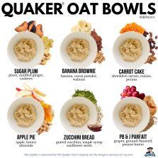 Quaker Oat Bowls