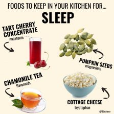 Foods To Keep In Your Kitchen For SLEEP