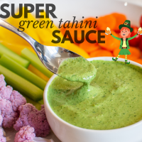 SUPER green tahini SAUCE