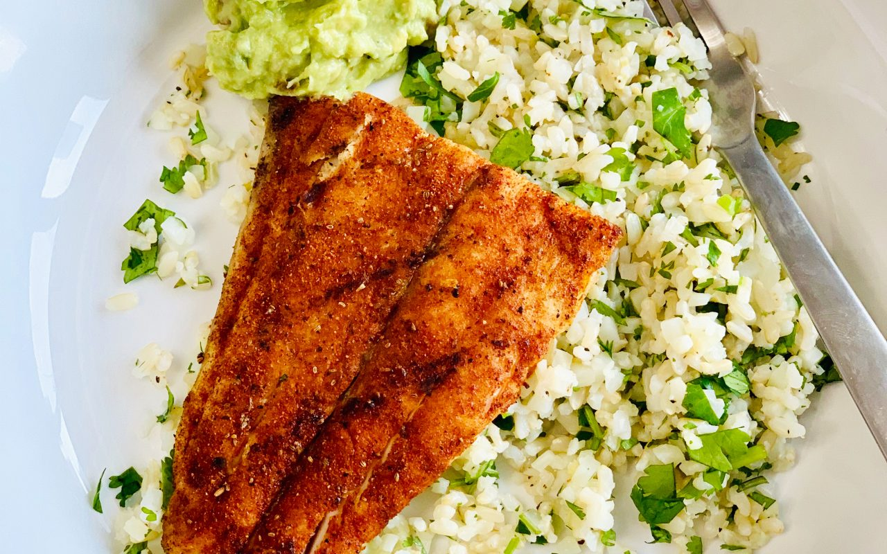Blackend Fish and 50/50 Cilantro-Lime Rice