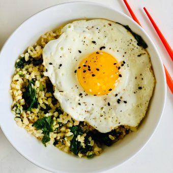 Breakfast Fried 50/50 Rice