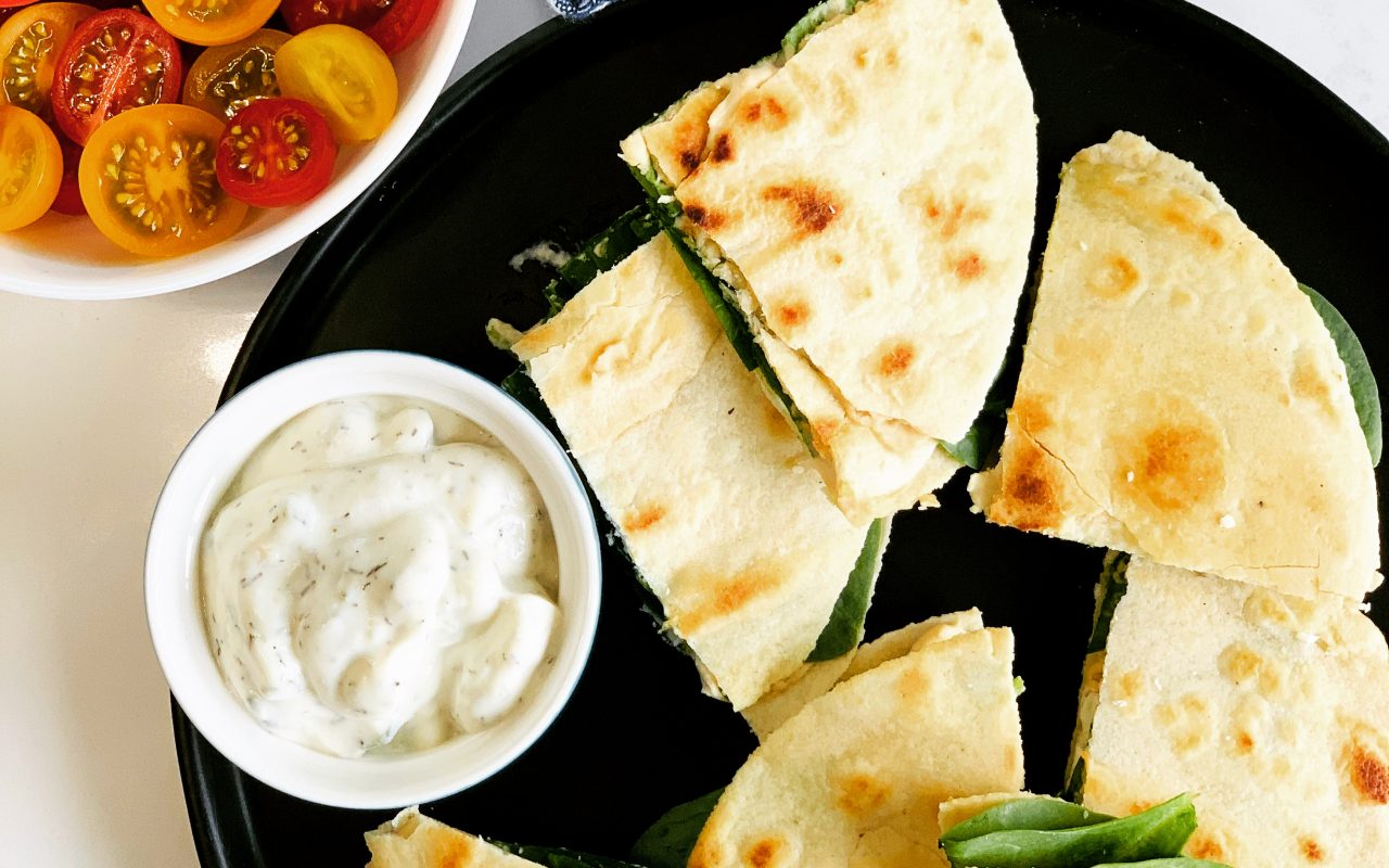Hummus Quesadillas