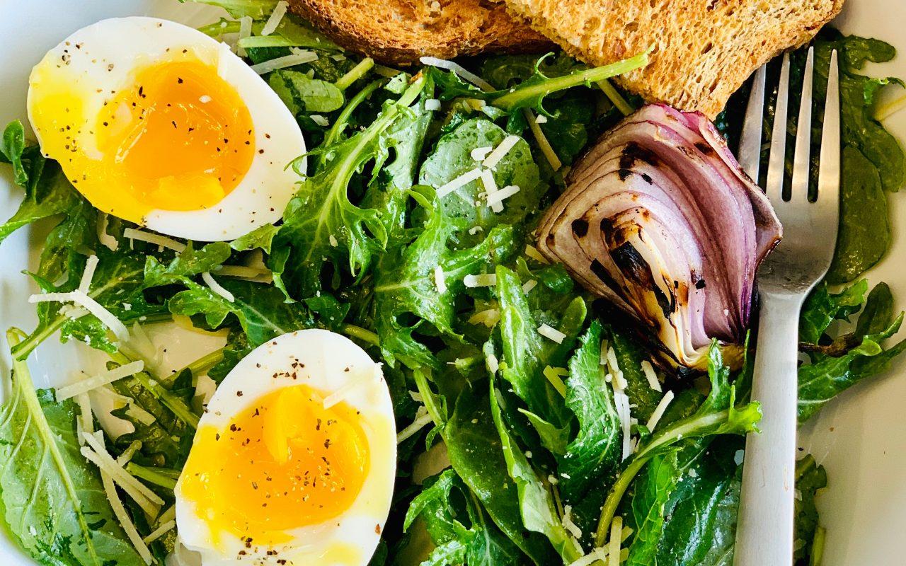 Kale Caesar Breakfast Salad