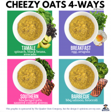 Cheezy Oats 4-Ways