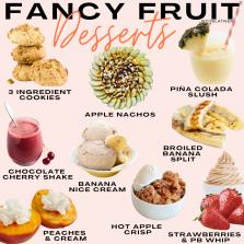 Fancy Fruit Desserts