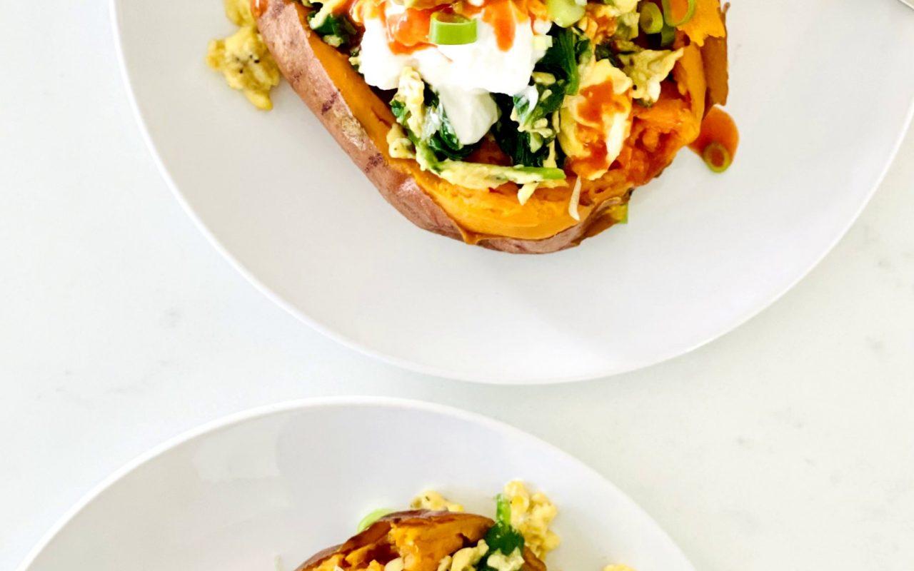 Breakfast Loaded Sweet Potatoes