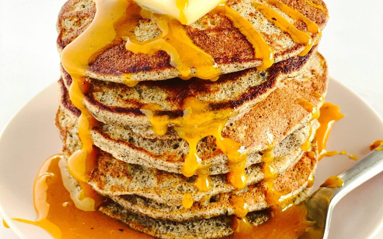Hemp Pancakes with Turmeric Honey