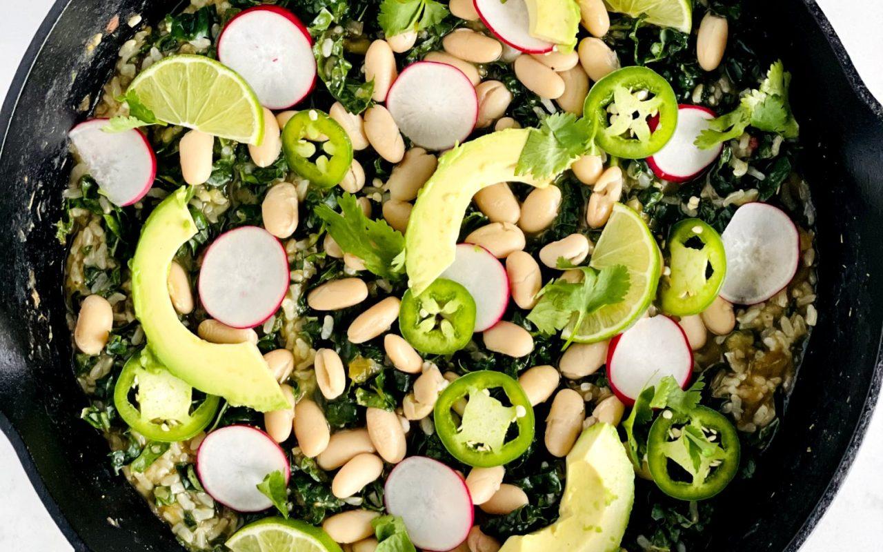 Vegan Chili Verde Skillet