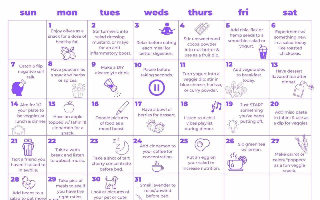 Healthy & Fun March Calendar