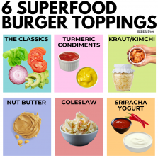 6 Superfood Burger Toppings