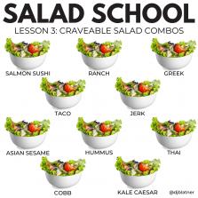 Salad School Lesson 3: Craveable Salad Combos