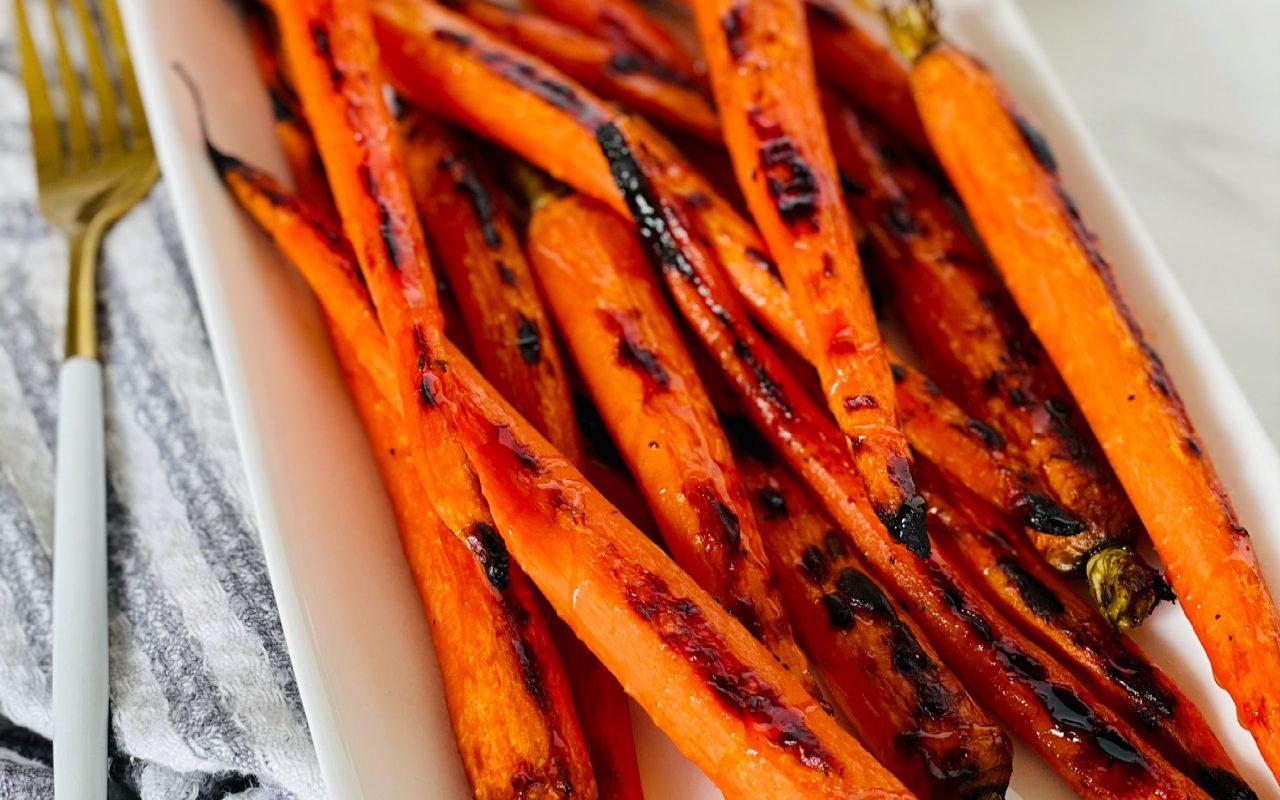 Hot Honey Roasted Carrots