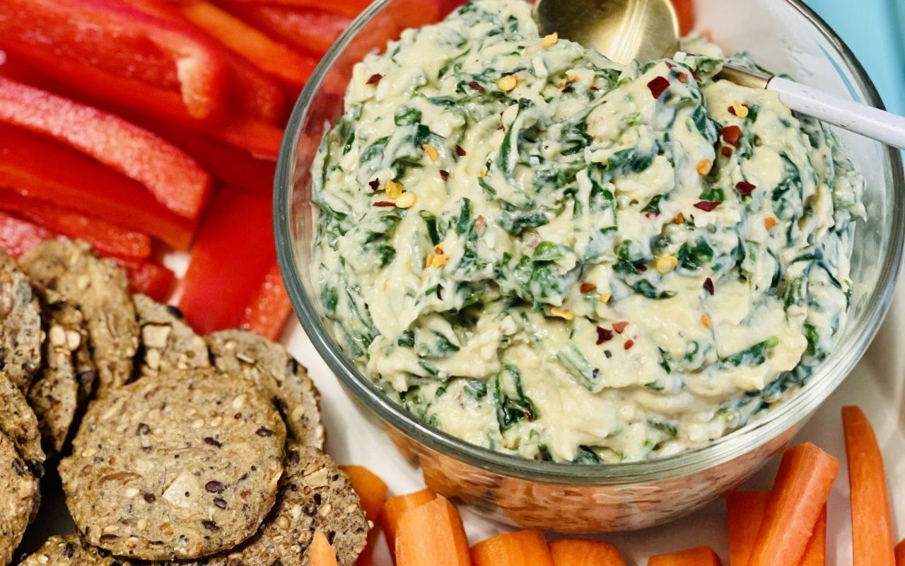 Spinach Dip Hummus
