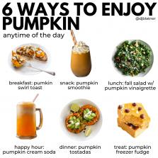 6 Ways to Enjoy Pumpkin
