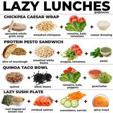 4 Lazy Lunch Ideas